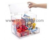 Plastic company custom acrylic food storage containers FD-154