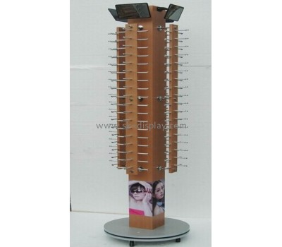 Large floor wood movable and turntable display for glasses GD-017