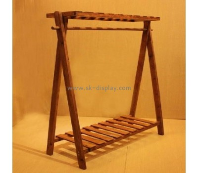 Solid wood clothes display rack GMD-010