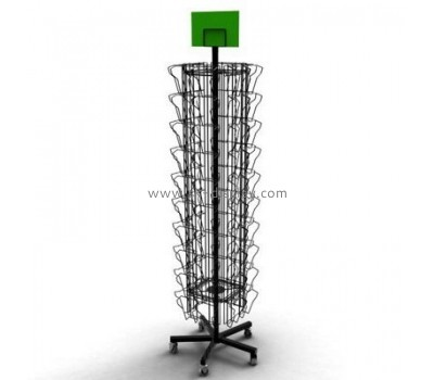 Metal floor rotating CD display stand CD-022