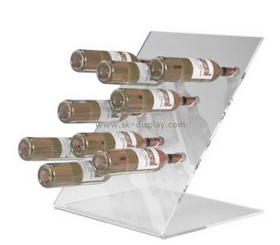 Counter top clear acrylic wine display stand WD-023