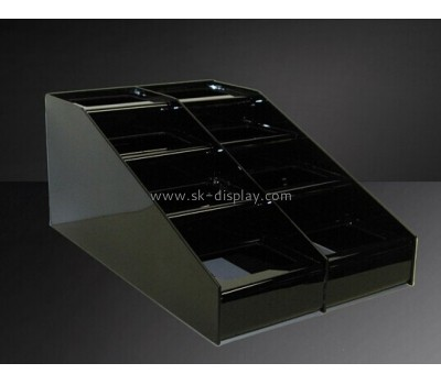 Four layer black acrylic food display stand FD-016