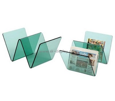 Acrylic W shape book display stand BD-027