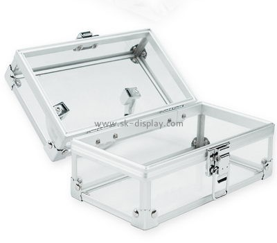 Acrylic cosmetic storage box with lock CO-034