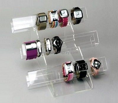 Acrylic watch display stand with 3 racks JD-031