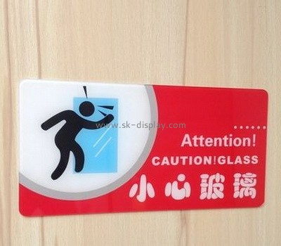 Custom acrylic warning sign with color printing SOD-036