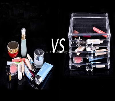 Clear perspex make up display storage box with five drawers CO-044