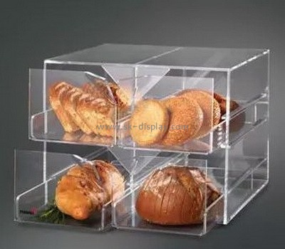 Acrylic food display case for bread or cookies FD-029