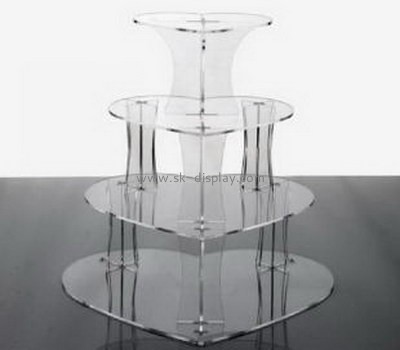 Four layers acrylic food display stands for cake FD-030