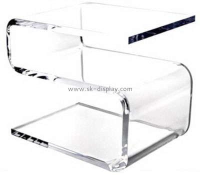 Transparent plexiglass Z shape modern coffee table AFS-021