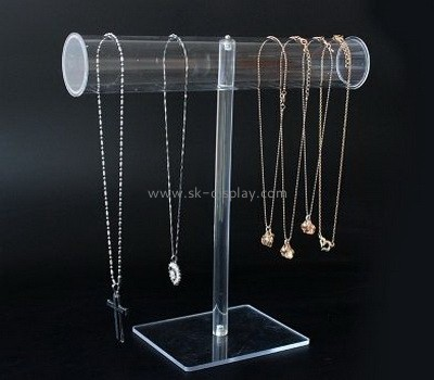 Transparent acrylic display stand for bracelet and necklace JD-048