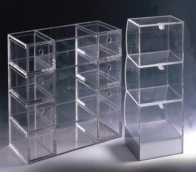 4 tiers plexiglass display case with multi-divider DBS-028