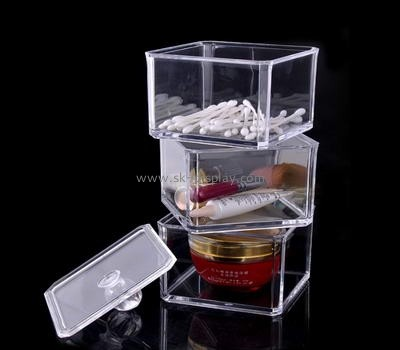 Clear perspex makeup storage box 3 in 1 set with lid CO-050