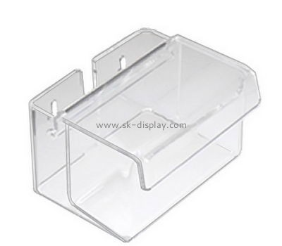 Transparent small acrylic display box mounted on wall DBS-029