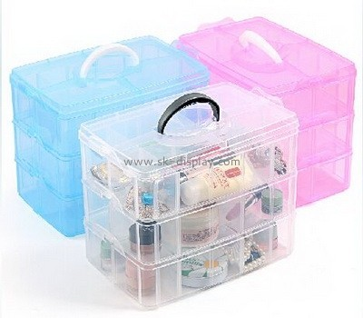 Large acrylic storage case with handle DBS-034