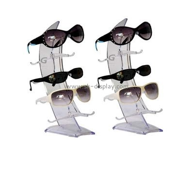 Acrylic glasses display rack with five holders GD-027