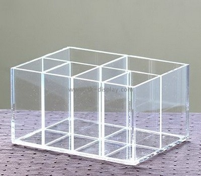 Clear acrylic makeup display holders with dividers CO-063