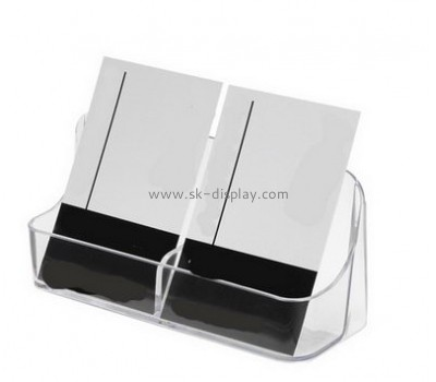 Clear acrylic pop up cheap business card holder with double holders BD-043