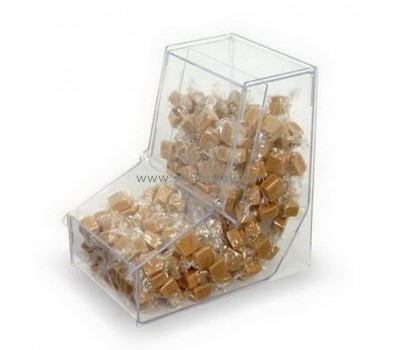 Top quality L shape food grade acrylic candy box FD-061