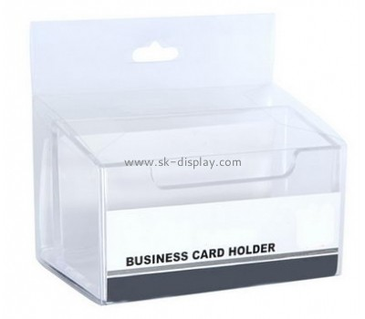 Custom acrylic square desktop business name card holder BD-052