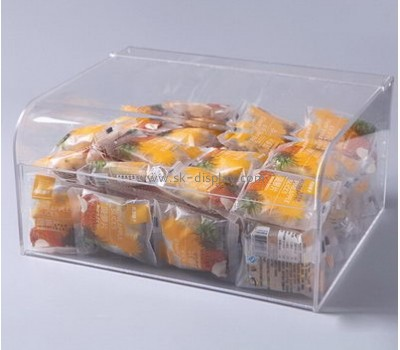 Factory custom design acrylic food container box food grade plastic container acrylic bread box FD-084