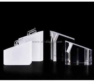 Factory direct sale clear acrylic block display jewelry ring display stand JD-092