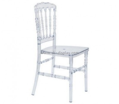 Factory direct sale transparent acrylic beauty salon chair louis ghost chair dining chair AFS-092
