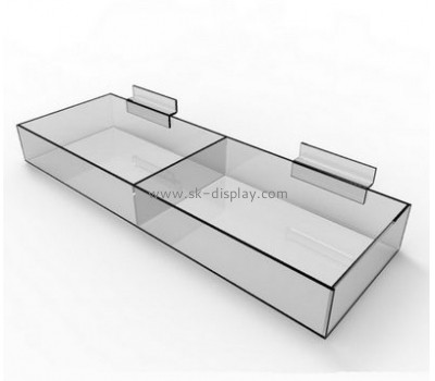 Custom design clear acrylic food container acrylic container plexiglass container for candy with divider FD-085