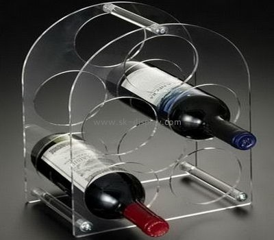 Custom transparent acrylic display stand wine display rack bottle display rack WD-072