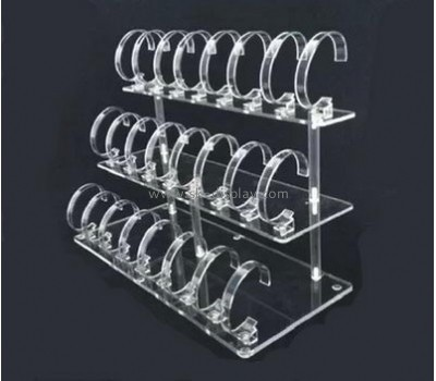 Factory direct wholesale 3 iters 24 holders transparent acrylic watch display stand JD-095