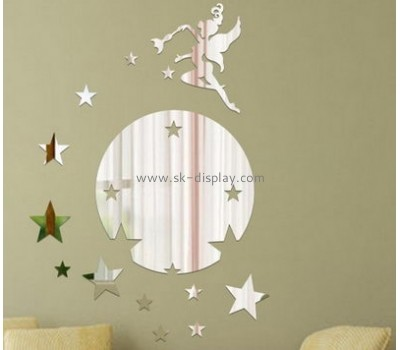 Factory wholesale acrylic colored mirror star sticker wall mirror sticker MA-031