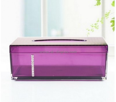 Hot sale acrylic plastic storage box with lid facial tissue box mini acrylic favor box DBS-099