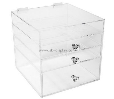 Custom acrylic makeup organizer cheap make up case large acrylic display case CO-193