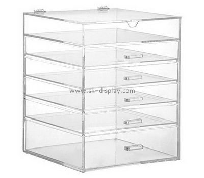 Custom large acrylic stand up makeup box organizer with drawers CO-370