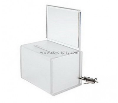 Acrylic box manufacturer customize plexi display cases acrylic suggestion box DBS-291