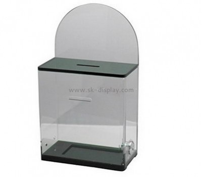 Acrylic box manufacturer customize and wholesale acrylic charity donation boxes DBS-293
