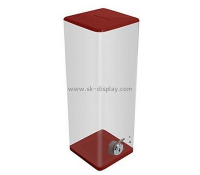 Acrylic box manufacturer customize and wholesale floor standing acrylic ballot boxes DBS-296