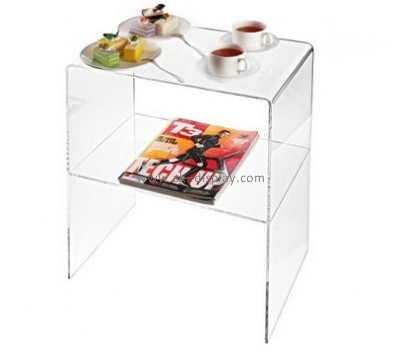 China acrylic manufacturer customized small acrylic side table with storage AFS-294