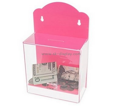 Plastic manufacturers custom clear acrylic small donation box DBS-299