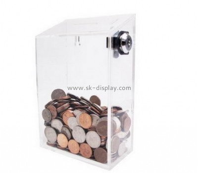 Acrylic plastic manufacturers custom plastic manufacturing money donation boxes DBS-306