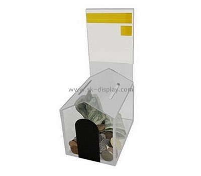 Complete plastic fabricators custom fabrication coin donation box DBS-311
