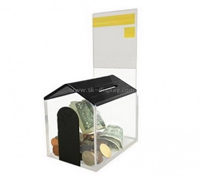 Plastic distributors and fabricators custom design coin donation boxes DBS-314