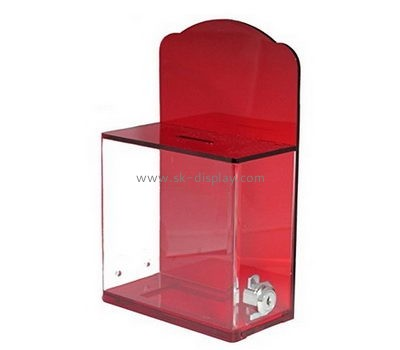 Acrylic display supplier custom acrylic fundraising donation containers box DBS-319