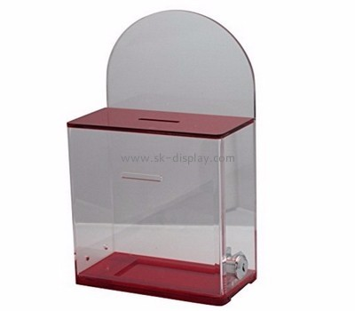 Acrylic display factory custom acrylic secure donation boxes DBS-317