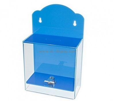 Acrylic products manufacturer custom plastic plexiglass charity collection boxes DBS-323