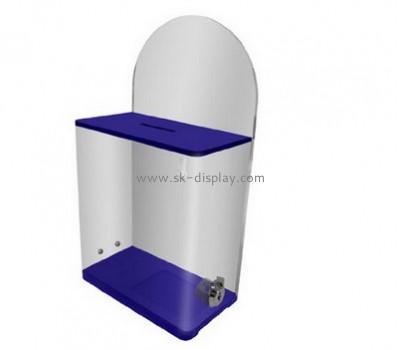 Display case manufacturers custom acrylic plastic products charity coin collection boxes DBS-330