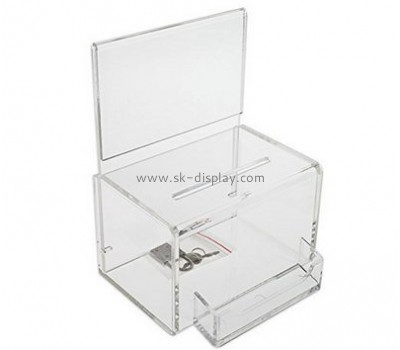 Acrylic plastic supplier custom acrylic products charity collection boxes for sale DBS-339