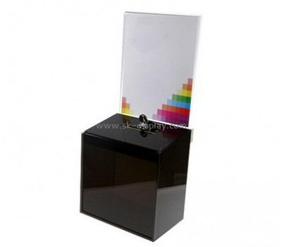 Display stand manufacturers custom acrylic fabrication cheap charity boxes DBS-341
