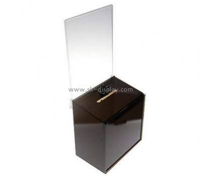 China acrylic manufacturer custom plastic fabrication charity boxes DBS-342