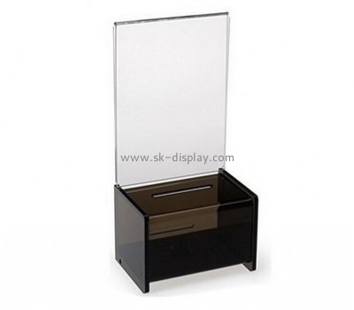 Lucite manufacturer custom plastic fabrication ballot boxes DBS-345